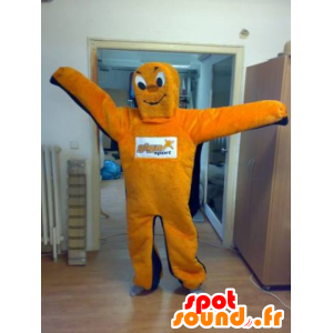 Mascotte arancio e blu uomo, gigante - MASFR031821 - Umani mascotte