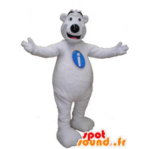 Mascotte d'ours blanc, de nounours géant - MASFR031833 - Mascotte d'ours