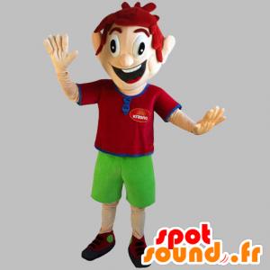 Rude maskotka, bardzo uśmiechnięty z zielonych spodenkach - MASFR031838 - Maskotki Boys and Girls