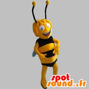 Maya das Maskottchen Bee. gelbe und schwarze Biene - MASFR031841 - Maskottchen Biene