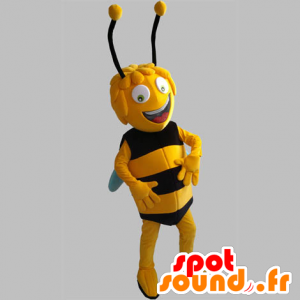 Maya the Bee mascot. yellow and black bee - MASFR031841 - Mascots bee