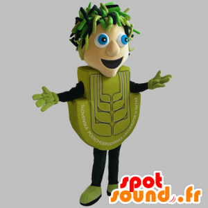 Uomo mascotte verde. uomo verde - MASFR031842 - Umani mascotte