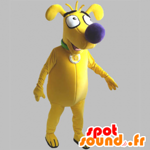 Gelber Hund Maskottchen, lustig und nett - MASFR031850 - Hund-Maskottchen