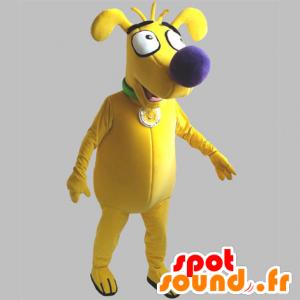 Yellow Mascot Dog, grappige en leuke - MASFR031850 - Dog Mascottes