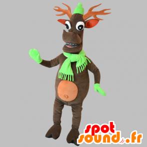 Mascotte de renne de Noël. Mascotte de caribou - MASFR031861 - Mascottes Noël