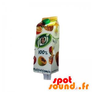 Maskot obří ovocný džus cihla - MASFR031862 - Fast Food Maskoti
