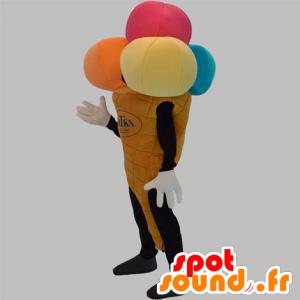 Mascotte de cornet de glace géant. Mascotte de glacier - MASFR031876 - Mascottes Fast-Food
