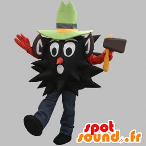 Mascot schwarzer Mann, Holzfäller mit einem Hut - MASFR031881 - Menschliche Maskottchen