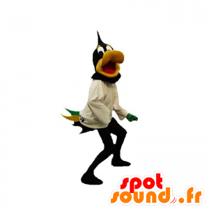Nero e giallo anatra mascotte. Daffy Duck mascotte - MASFR031887 - Mascotte di anatre