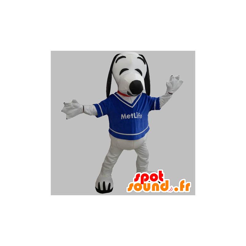 Mascotte de chien blanc et noir. Mascotte de Snoopy - MASFR031891 - Mascottes Scooby Doo