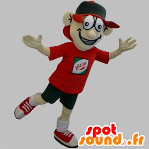 Pizza delivery mascot. teenage mascot - MASFR031895 - Mascots Pizza