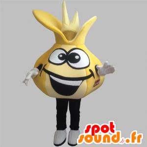 Løk maskot av hvitløk gule giganten - MASFR031897 - vegetabilsk Mascot