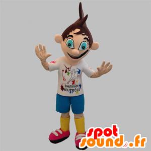 Boy mascot, teenager with beautiful blue eyes - MASFR031907 - Mascots boys and girls