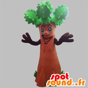 Mascotte d'arbre géant, marron et vert. Mascotte d'arbuste - MASFR031914 - Mascottes de plantes