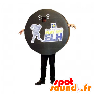 Hockey-Puck-Maskottchen. Sport Maskottchen - MASFR031926 - Sport-Maskottchen