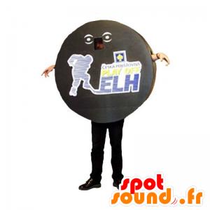 Jääkiekko kiekko maskotti. Urheilu Mascot - MASFR031926 - urheilu maskotti