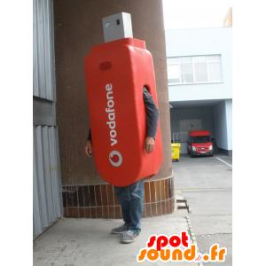 USB mascot red giant. multimedia mascot - MASFR031932 - Mascots of objects