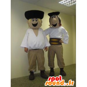 2 mascots Männer, Slowakisch, im traditionellen Kleid - MASFR031933 - Menschliche Maskottchen
