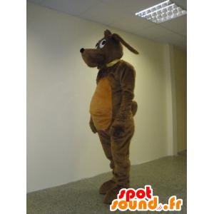 Mascote cão marrom, doce e bonito - MASFR031939 - Mascotes cão