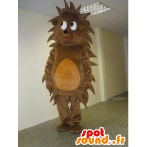 Hedgehog mascotte marrone e arancio, dolce e carino - MASFR031940 - Mascotte Hedgehog