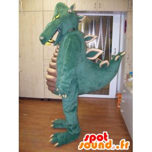 Mascotte de dinosaure vert, très impressionnant et réussi - MASFR031952 - Mascottes Dinosaure