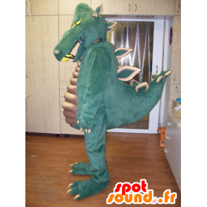 Green dinosaur mascot, very impressive and successful - MASFR031952 - Mascots dinosaur