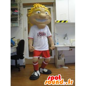 Man mascotte, sporten in sportkleding - MASFR031955 - sporten mascotte
