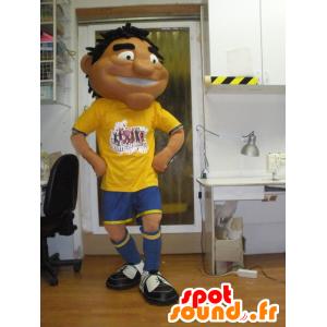 Mascotte abbronzato uomo di sport in abiti sportivi - MASFR031956 - Mascotte sportives