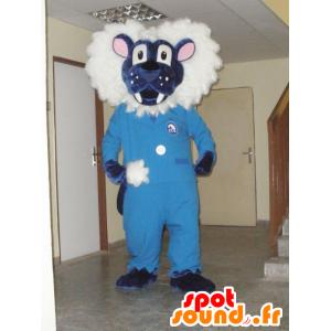 Sinivalkoinen leijona maskotti. Tiger Mascot - MASFR031969 - Tiger Maskotteja