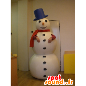Hvit Snowman Mascot, Giant - MASFR031981 - Man Maskoter
