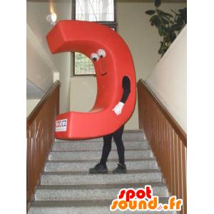 Kształcie maskotka czerwony wielką literą C. C - MASFR031985 - Niesklasyfikowane Maskotki
