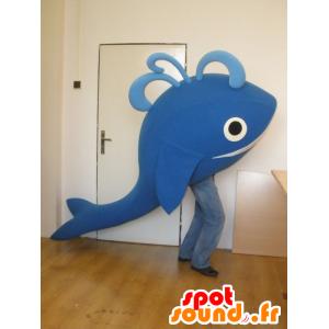 6ea0665ccb9cd Mascot e baleia azul gigante sorrindo - MASFR031987 - Mascotes do oceano  novo visibility