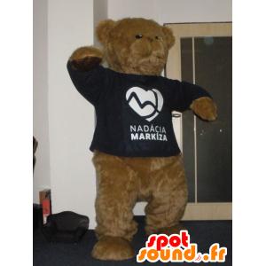 Hnědý plyšový maskot, jemná a chlupatá - MASFR031995 - Bear Mascot