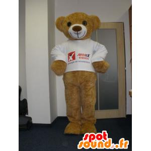 Mascot Bear beige pluche, zeer glimlachen - MASFR032017 - Bear Mascot