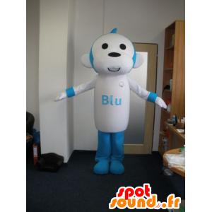 Mascotte de singe bleu et blanc. Mascotte de chimpanzé - MASFR032019 - Mascottes Singe