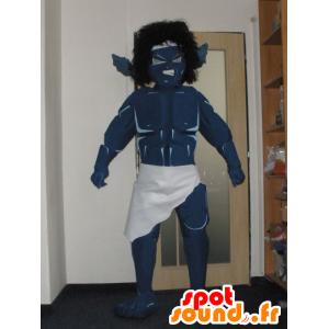 Mascot monstro, guerreiro azul, muito impressionante - MASFR032022 - mascotes monstros