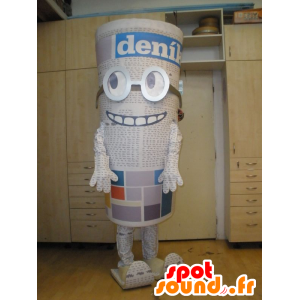 Giant Mascot newspaper with glasses. Newspaper - MASFR032025 - Mascots of objects