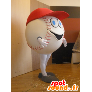 Blanco mascota del béisbol, gigante - MASFR032033 - Mascota de deportes