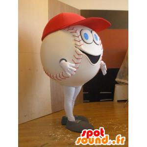 Valkoinen baseball maskotti, jättiläinen - MASFR032033 - urheilu maskotti