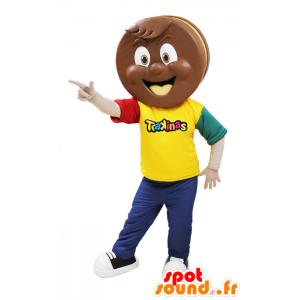 Trakinas chokoladekagemaskot - Spotsound maskot kostume
