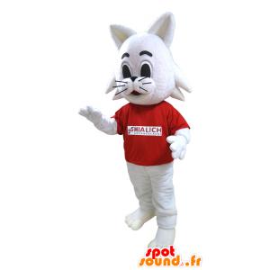 Bianco gatto mascotte, marchio Coniglio Mialich - MASFR032048 - Mascotte coniglio