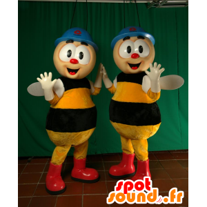2 mascotas abejas, que trabajan con auriculares - MASFR032052 - Abeja de mascotas