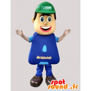 Mascot Arbeiter, Klempner, gekleidet in blau - MASFR032053 - Menschliche Maskottchen