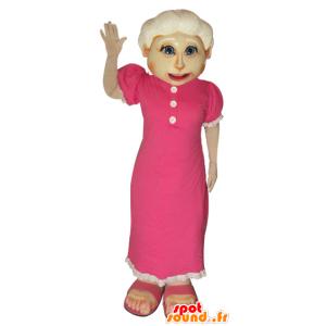 Mascotte de vieille dame. Mascotte de grand-mère - MASFR032058 - Mascottes Femme