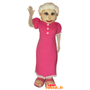 Mascotte oude dame. Mascot grootmoeder - MASFR032058 - Vrouw Mascottes