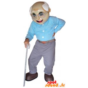 Alte Maskottchen. Großvater-Maskottchen - MASFR032060 - Menschliche Maskottchen