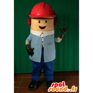 Arbeiter-Maskottchen. Bau-Maskottchen - MASFR032066 - Menschliche Maskottchen