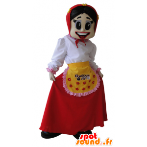 La mascota del granjero, esposa, ama de casa - MASFR032074 - Mujer de mascotas
