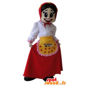 Mascot landmand, kvinde, husmor - Spotsound maskot kostume