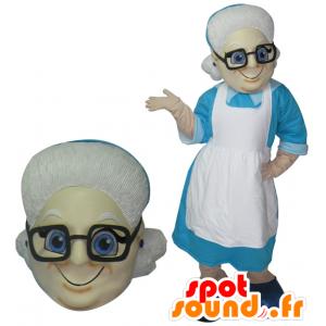 Gammal dam maskot. Mormors maskot - Spotsound maskot